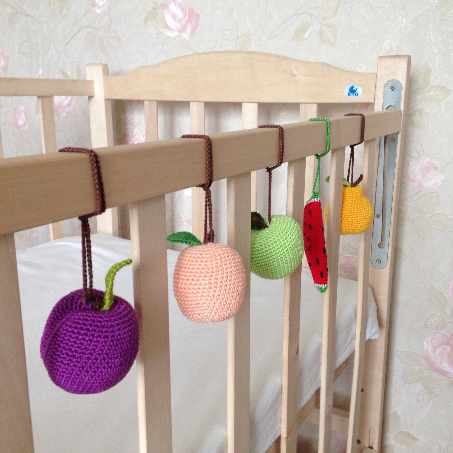 Crib gym for babies - Fruits For A Baby Gym Can Be Used As Toys For A Crib As Well