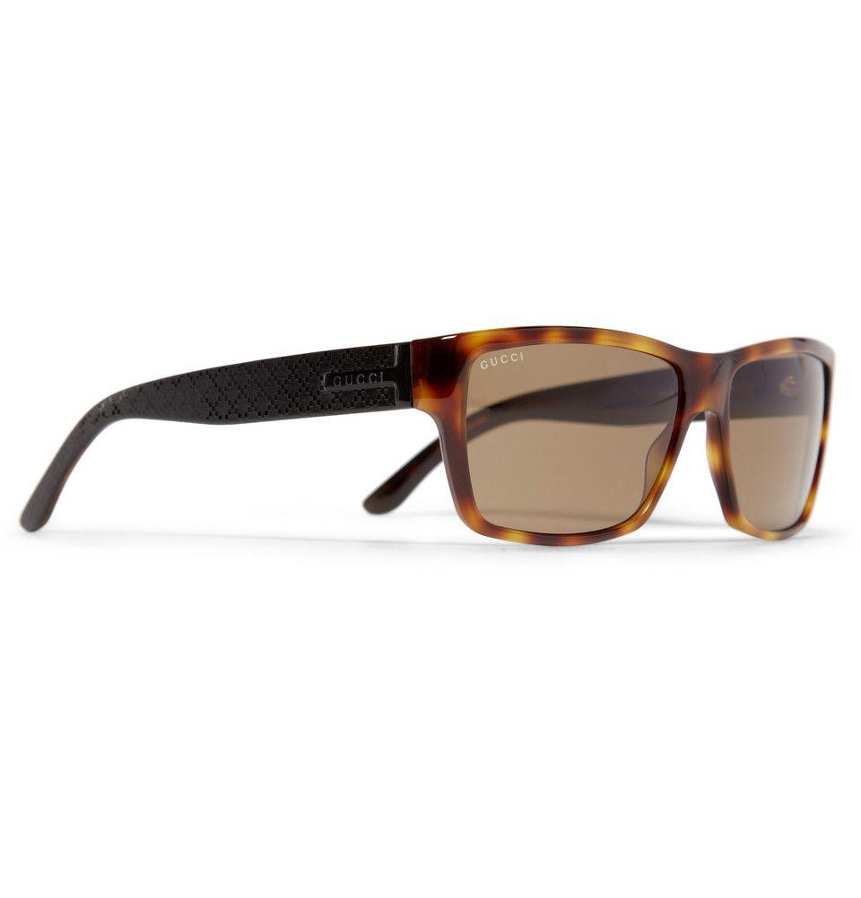 c543f21676 Gucci Rectangular Acetate Sunglasses