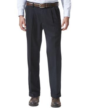 34eeb317dc018c Dockers Men's Stretch Relaxed Fit Comfort Khaki Pants Pleated - Cuffed D4 -  Blue 40x34