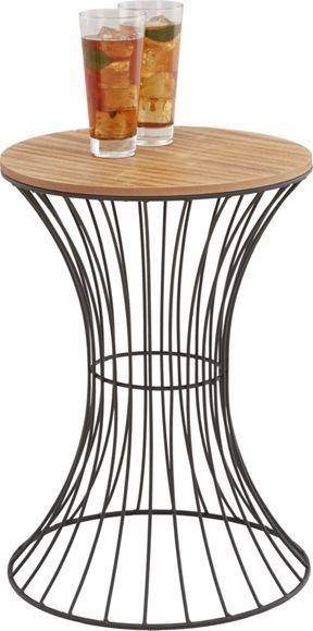 Beistelltisch aus Metall und Holz - ein dekorativer Blickfang