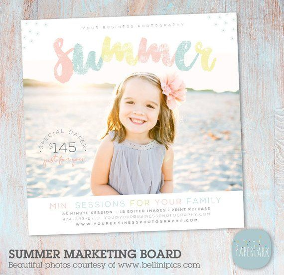 Welcome Free Templates For Photoshop: Summer Mini Session Photography Template