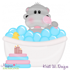 Squeaky Clean-Hippo Cutting Files-Includes Clipart