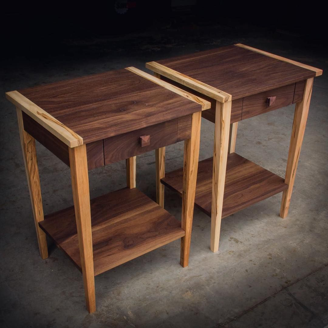 Meubles But Aubenas Walnut And Ambrosia Maple Nightstand Pair There Are So Many Ways