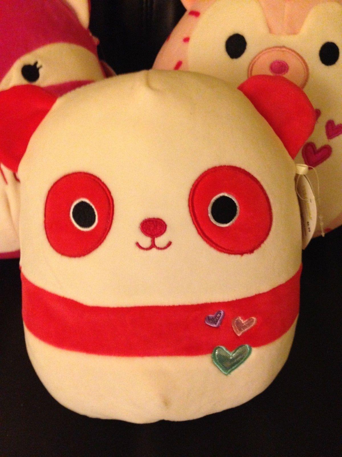 New Squishmallow Red Panda Penelope 8 Valentine Plush Pillow Washable Valentine Plush Plush Pillows Red Panda