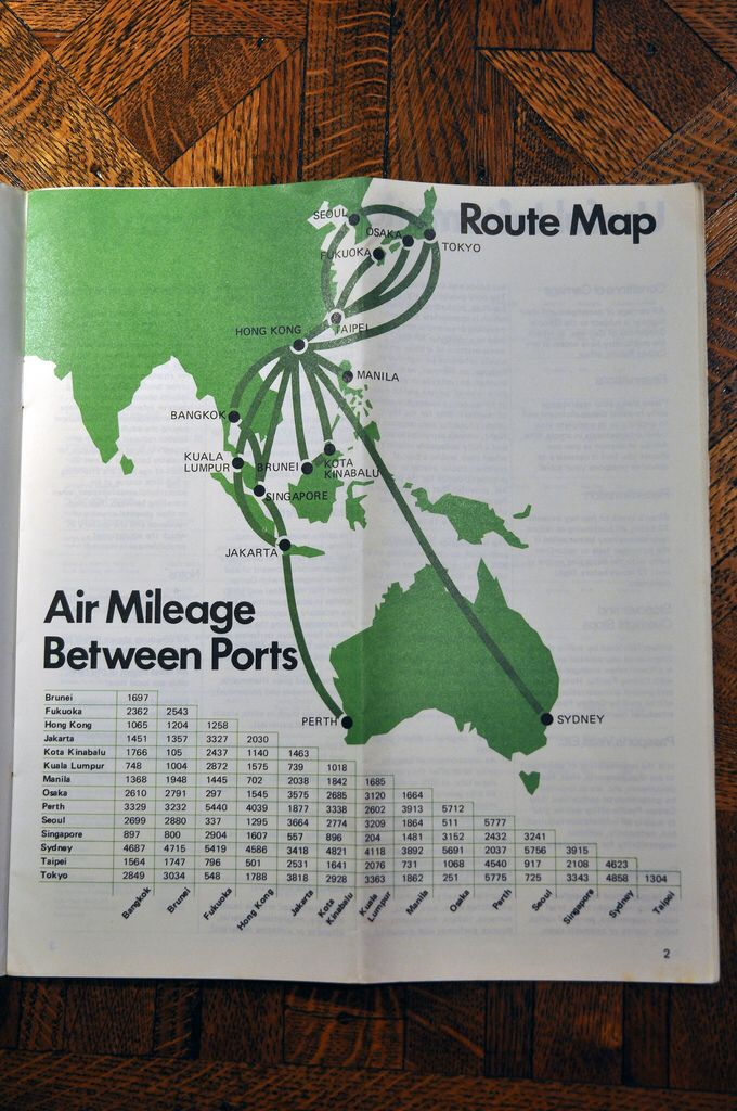 Cathay Pacific Route Map 1975 | Airline History Maps | Pinterest