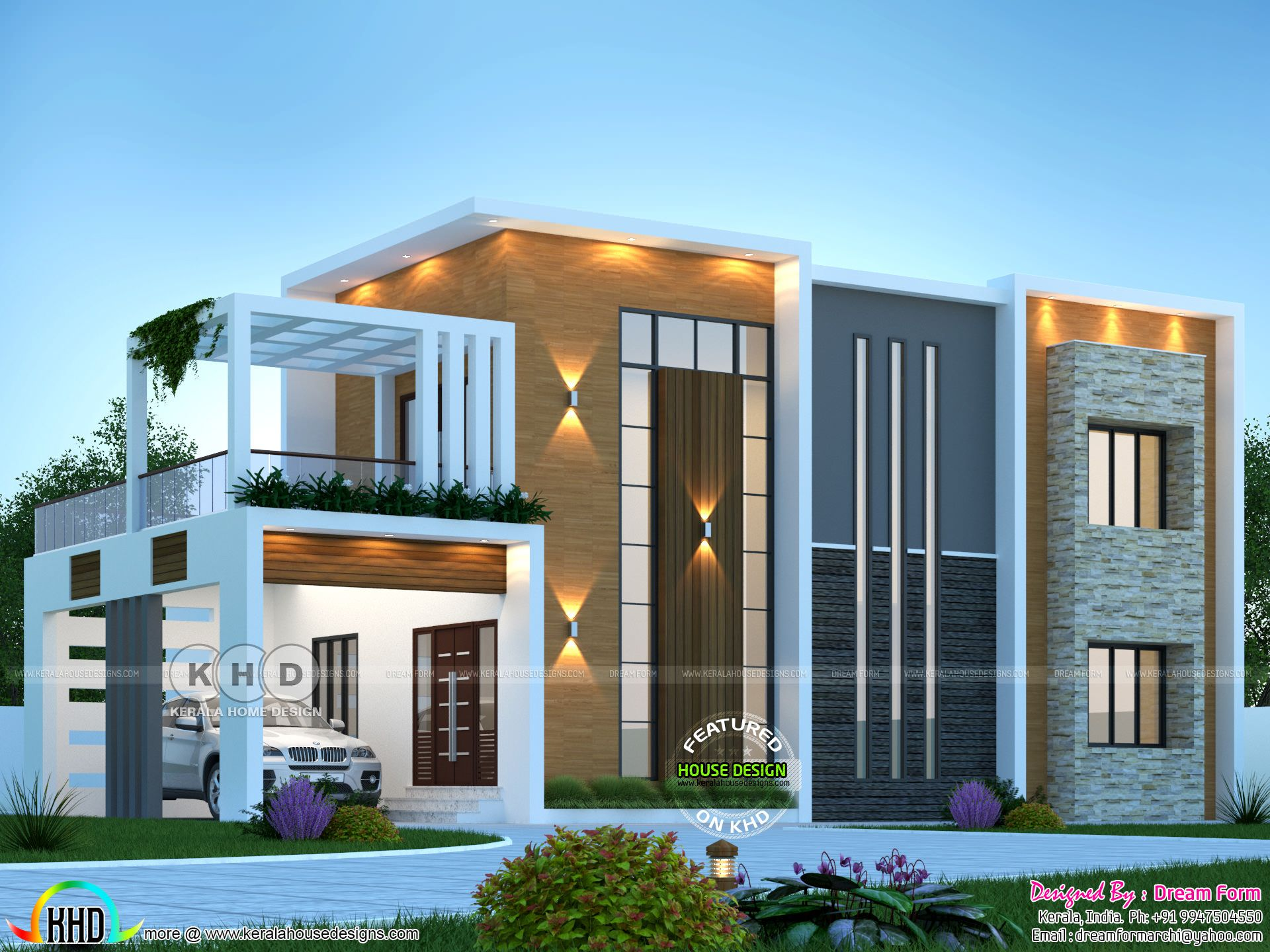 4 Bhk 2590 Sq Ft Awesome Modern Contemporary Home Design In 2020 Kerala House Design Contemporary House Exterior House Front Design
