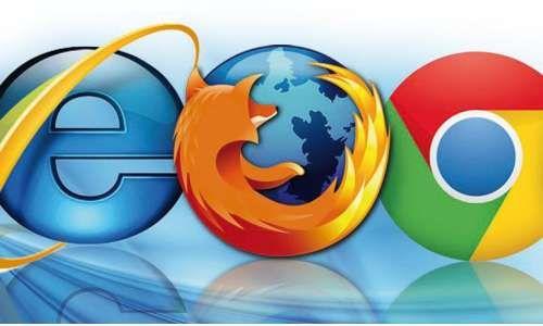 Logos der Browser Firefox, Chrome und Internet Explorer-Welcher Browser ist der Beste? 6 Kandidaten im Vergleich
