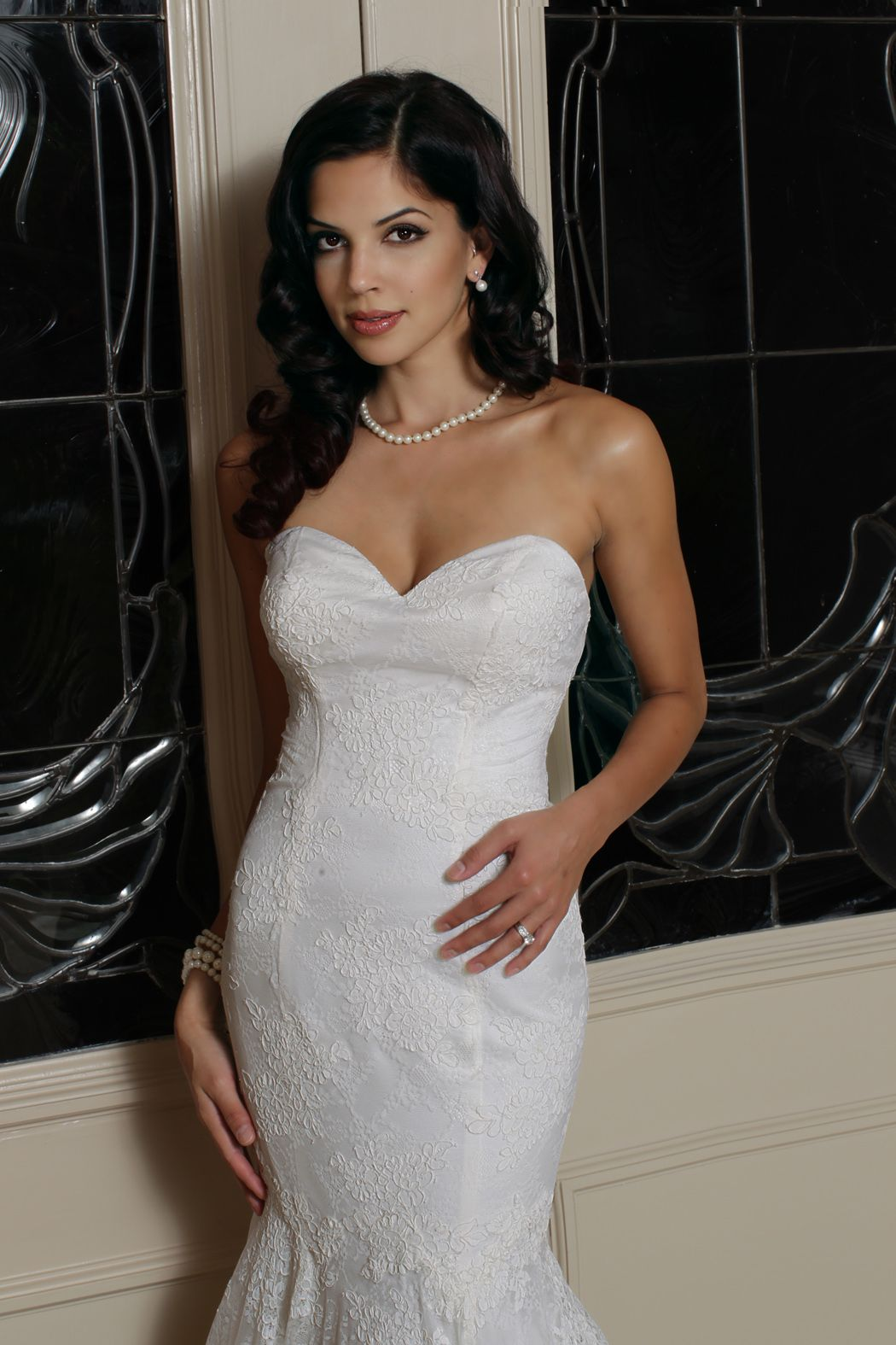 Style 50166 » Wedding Gowns » DaVinci Bridal » Available Colours : Ivory, White (close up)