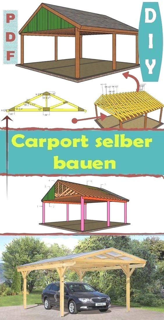 Carport selber bauen kostenlose Anleitung für Anfänger