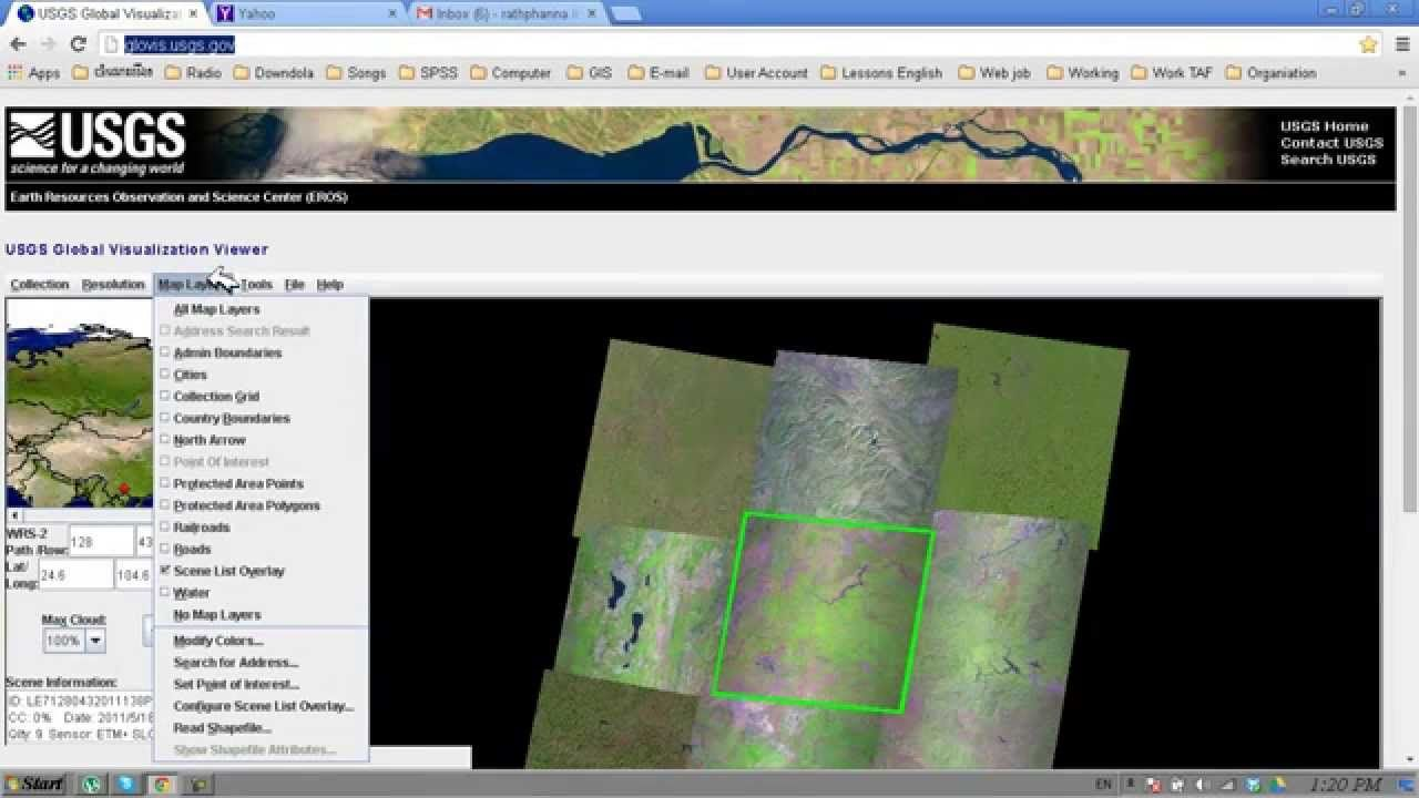 Downloading LandSat Imagery from USGS glovis | Geospatial