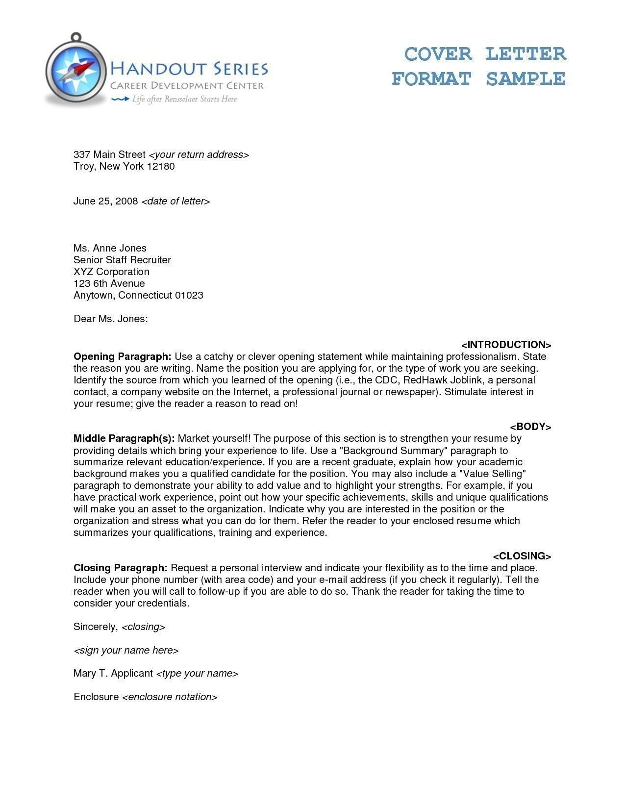 Formal Business Letter Format With Cc Business Letter Format Business Letter Template Formal Business Letter Format