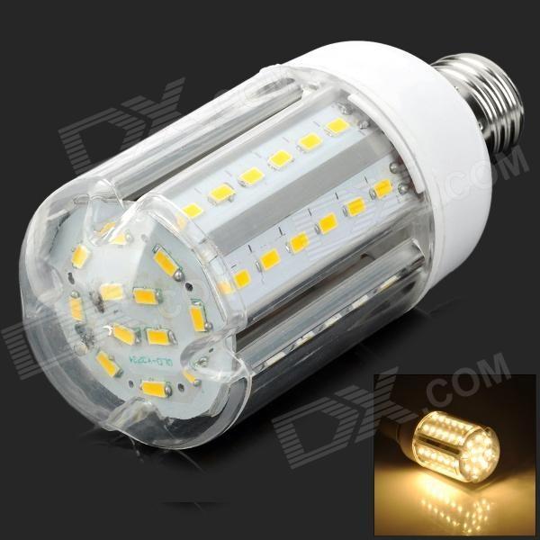 Y-E2760LED E27 15W 1500lm 3500K Warm White 60-SMD 5630 LED Light Bulb - White + Silver