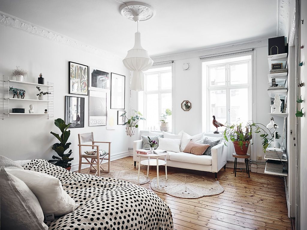 Another Charming Small Scandinavian Apartment Wohnidee By Woonio Studio Apartment Decorating Apartment Layout Small Room Design