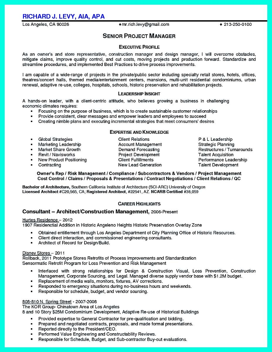 Nice Simple Construction Superintendent Resume Example To Get