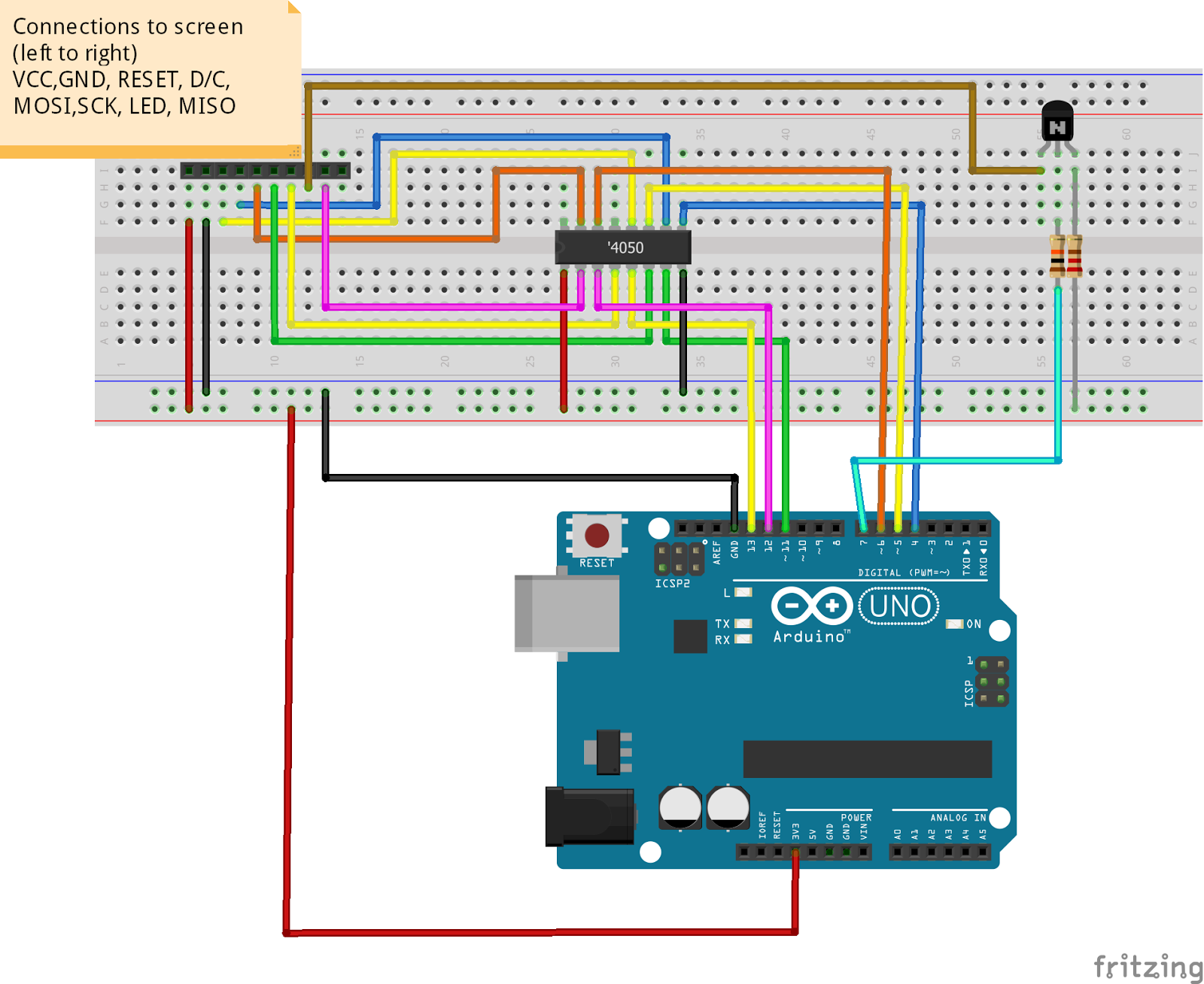 Gordons Projects: Arduino TFT (Serial SPI - 2 2