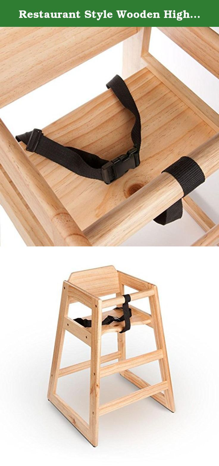 Restaurant Style Wooden High Chair. This stacking wooden