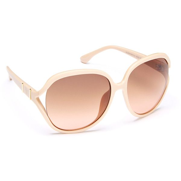 3d2480e614 Jessica Simpson Collection Nude Oversize Sunglasses ( 17) via Polyvore  featuring accessories