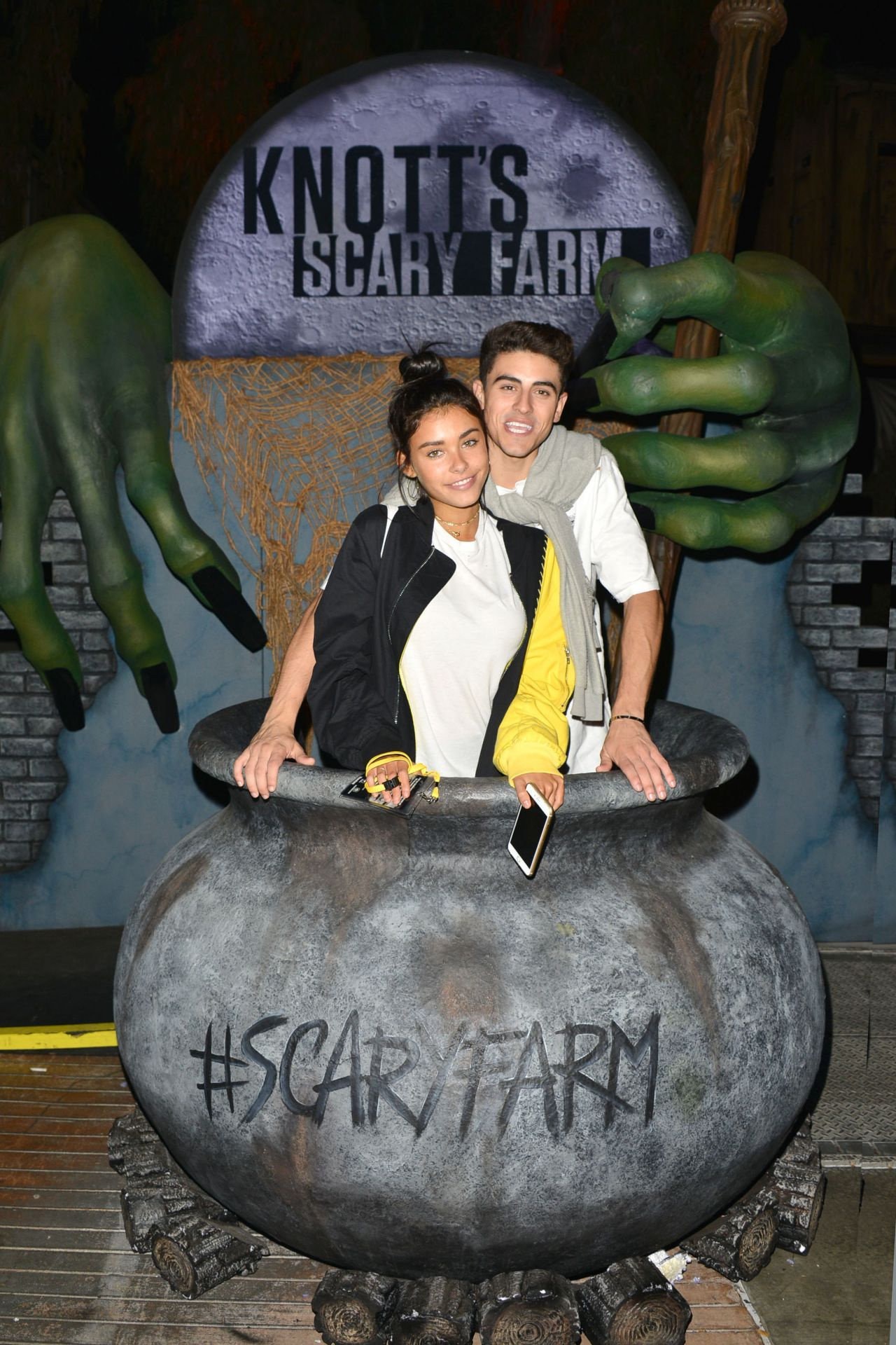 Madison Beer and Jack Gilinsky Knotts Scary Farm Opening Night in