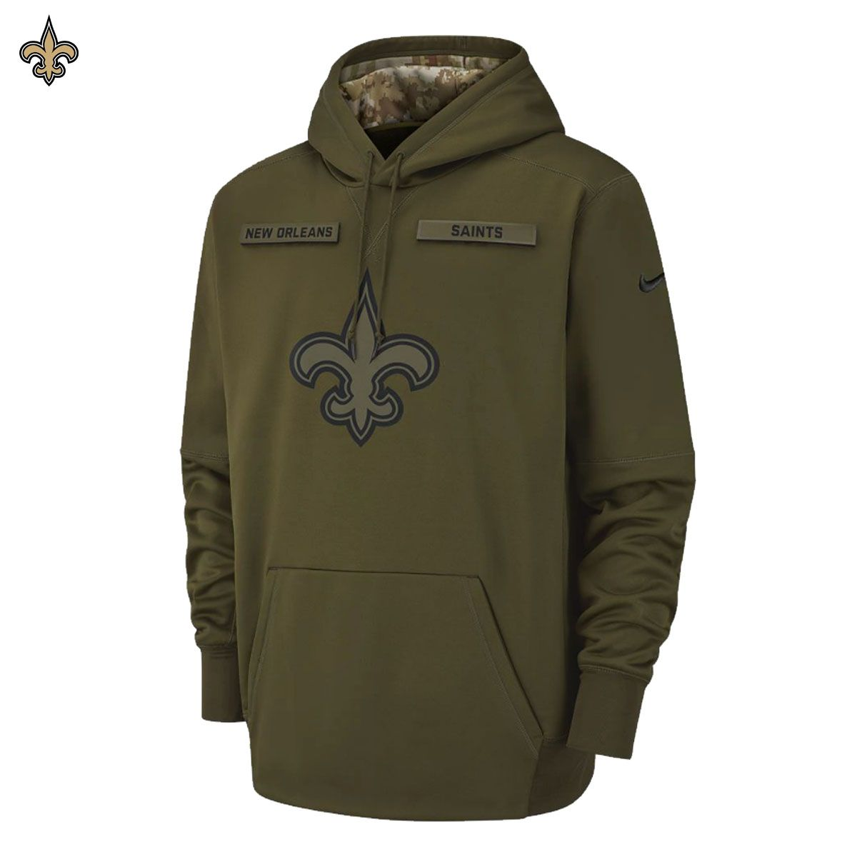 de88d406c993 ... closeout new nike 2018 nfl salute to service new orleans saints therma  po hoodie limited salute