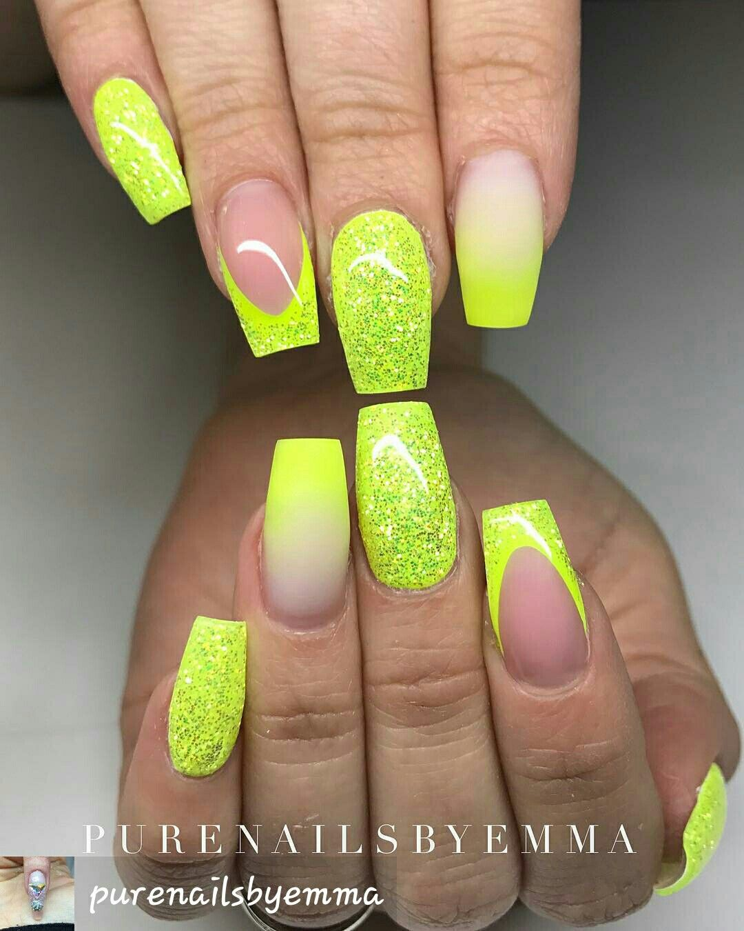 Neon Nails Frm Instagram With Images Neon Nail Art Designs