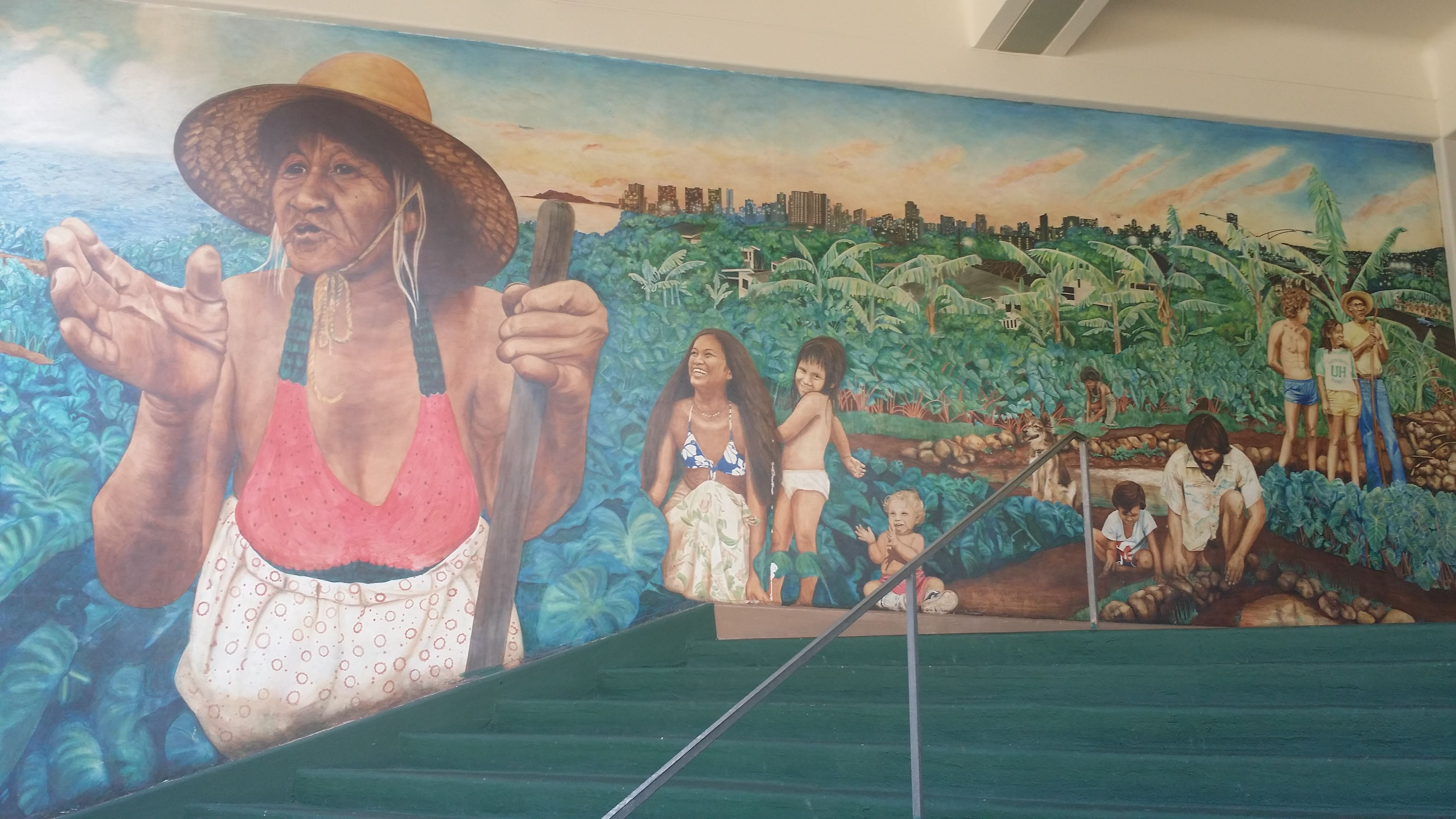 Mural On The Steps Leading Up To Campus Center At University Of