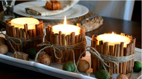 cinnamon stick candle holders