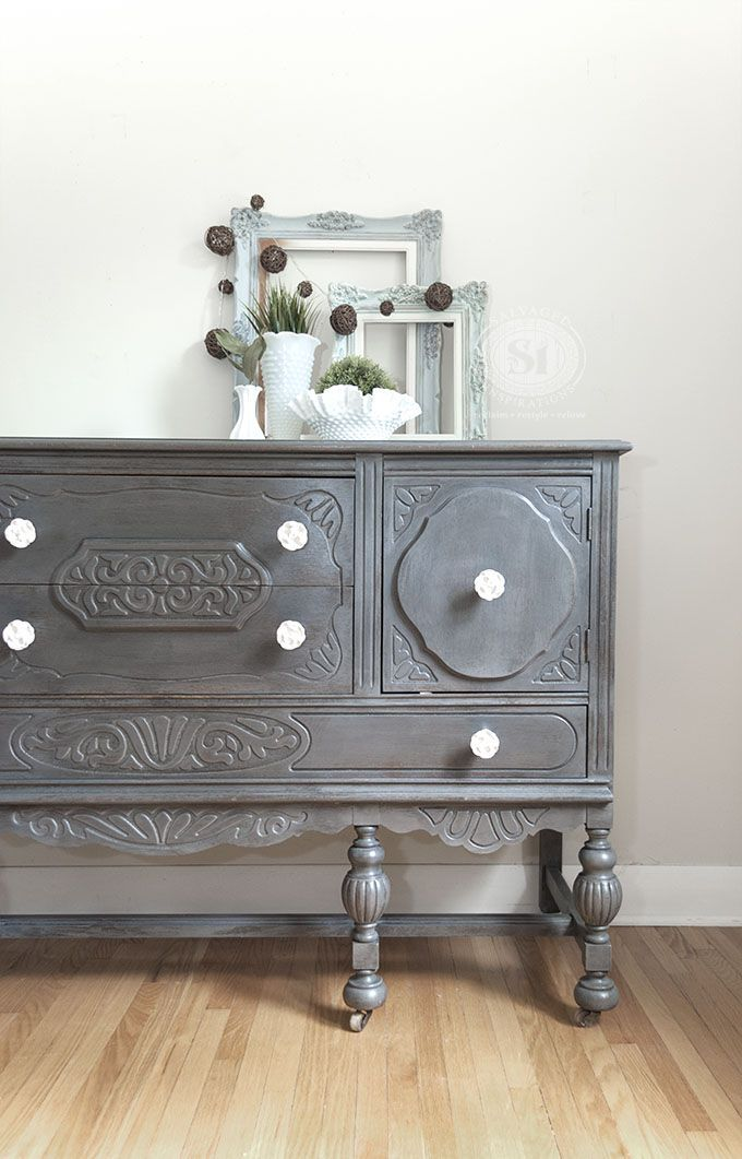 Grey Painted furniture - General Finishes Driftwood Buffet ...