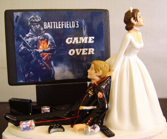 Video Game Wedding Ideas: Military VIDEO GAME 'junkie' Groom. Customized Wedding