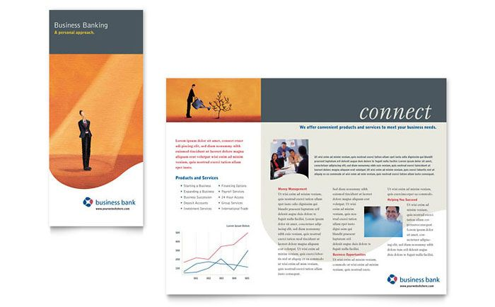 Business Bank Brochure Design Template by StockLayouts - microsoft word tri fold brochure