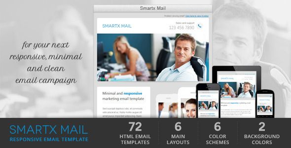 Smartx Mail - Responsive Email Template  Smartx Mail is clean - professional email template