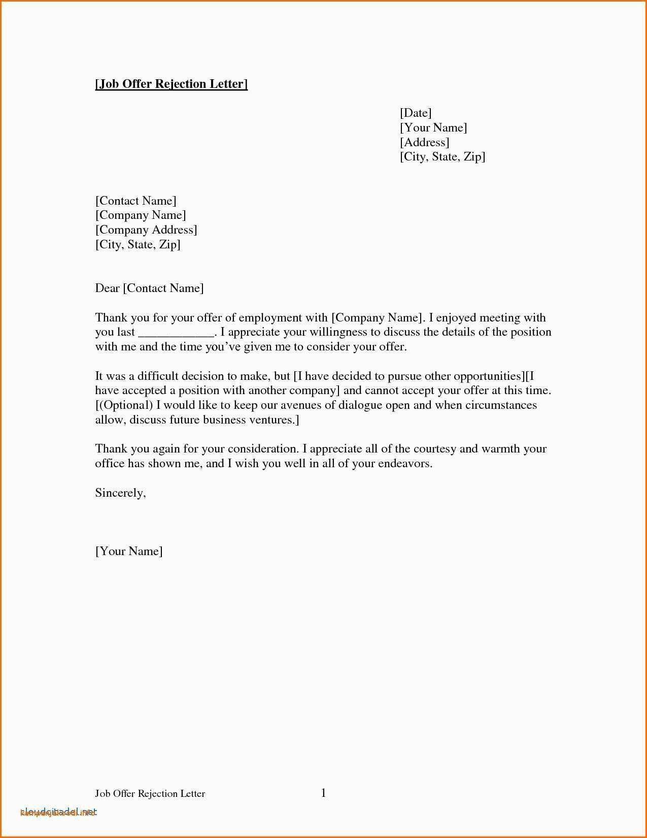 Download Best Of Job Offer Sample Letter Template Lettersample