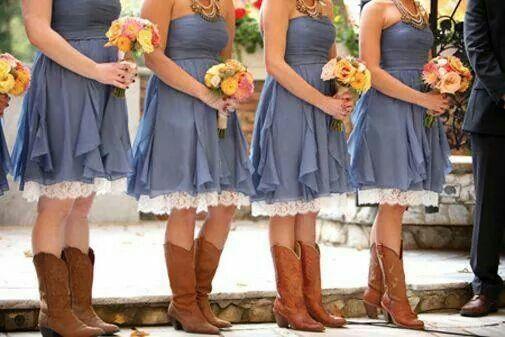 Bridesmaid Dresses Cowgirl Wedding