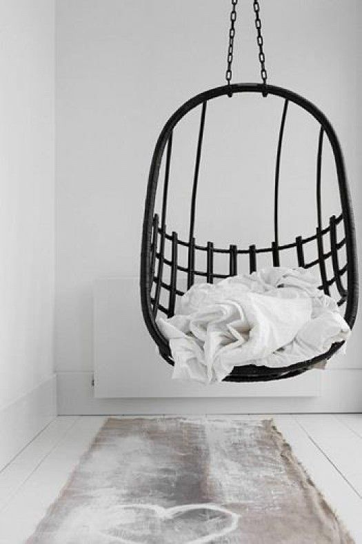 Hangmat Ophangen Plafond.Interior Wit Interieur Hanging Chair Zwarte Hangstoel Zwart