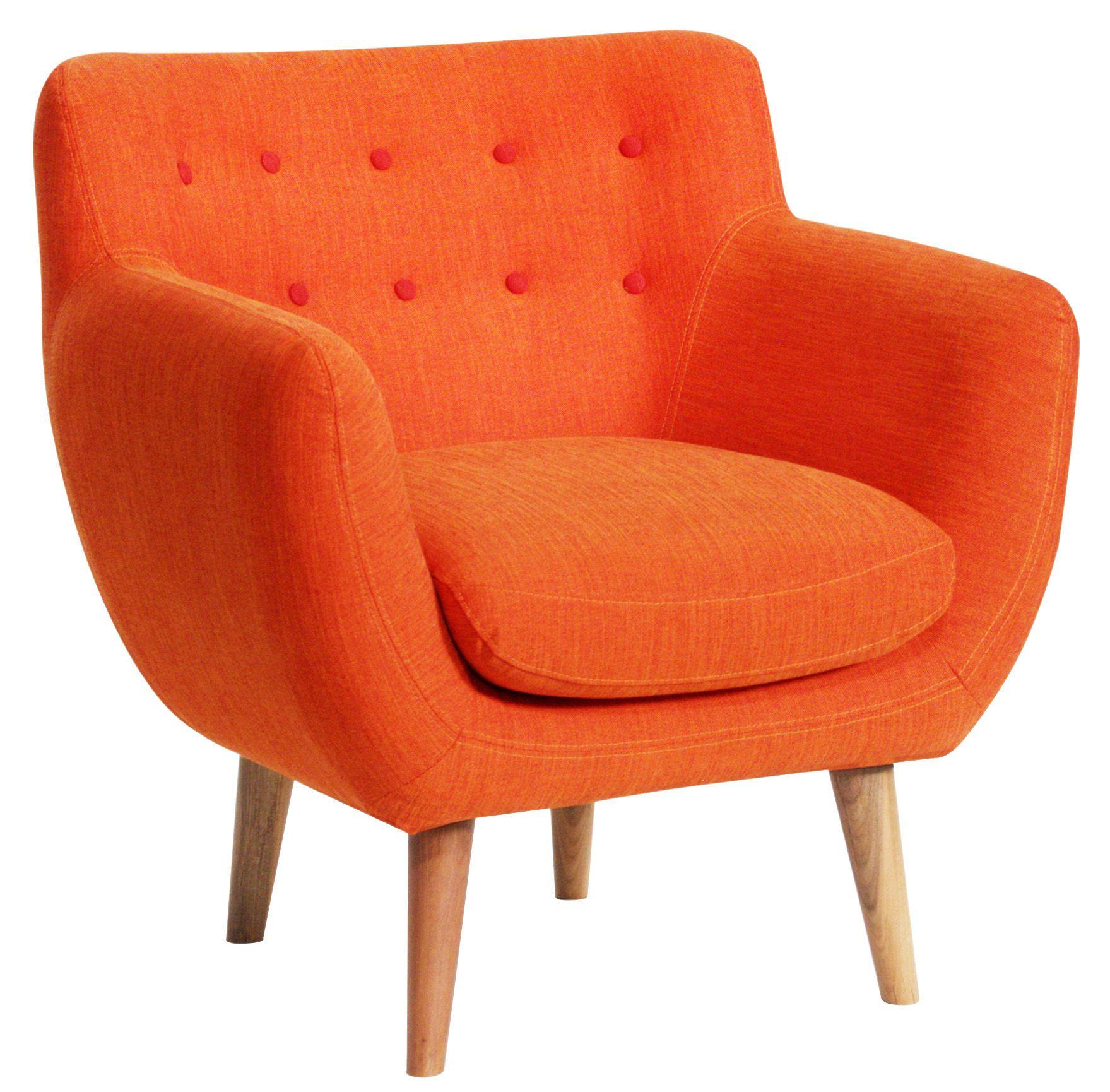 Fauteuil Orange Vintage Déco Pinterest Fauteuils Orange Et - Fauteuil orange