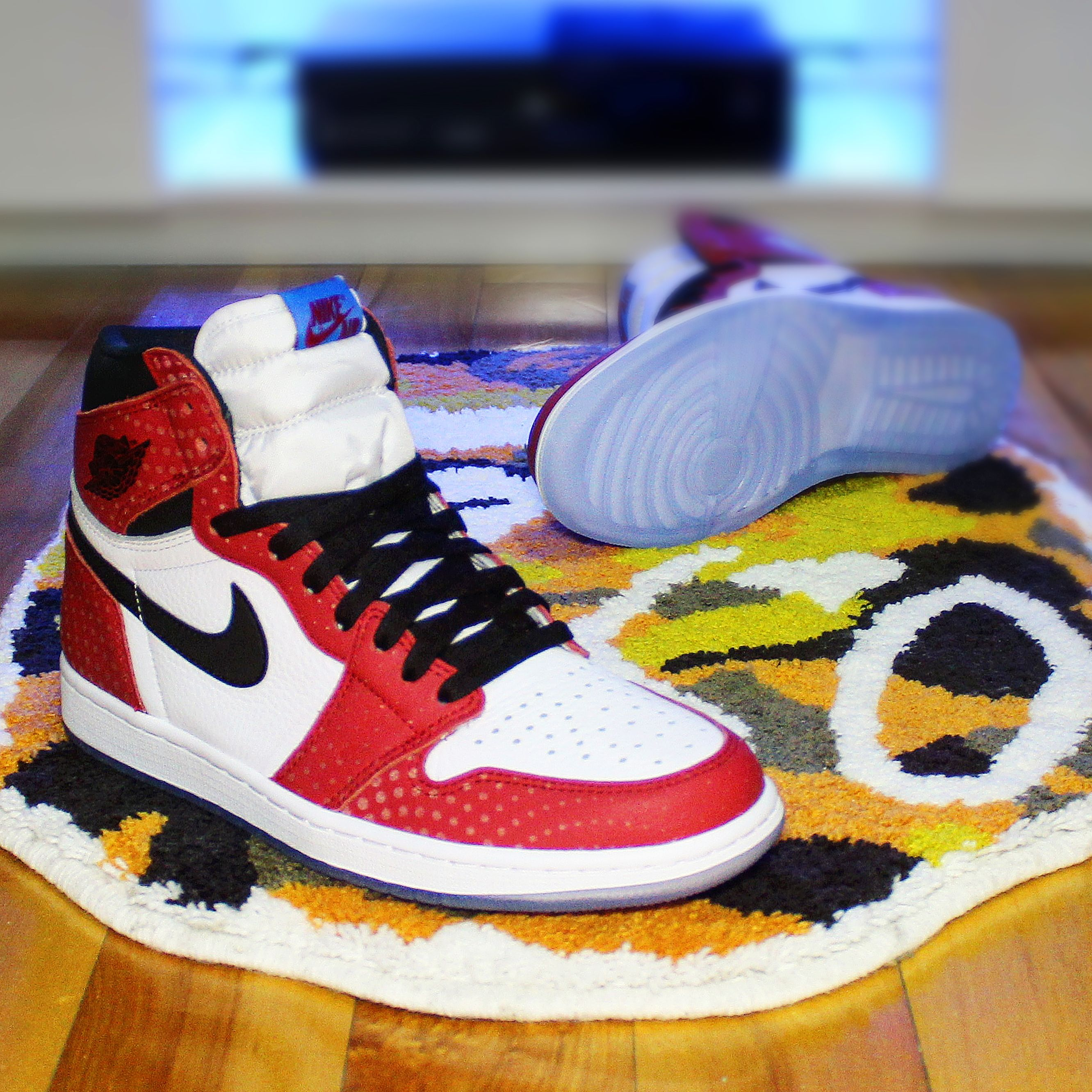 4b10aa451549 Tag a friend who will cop Go check out my Air Jordan Retro 1 High OG   Spider-Verse  on feet