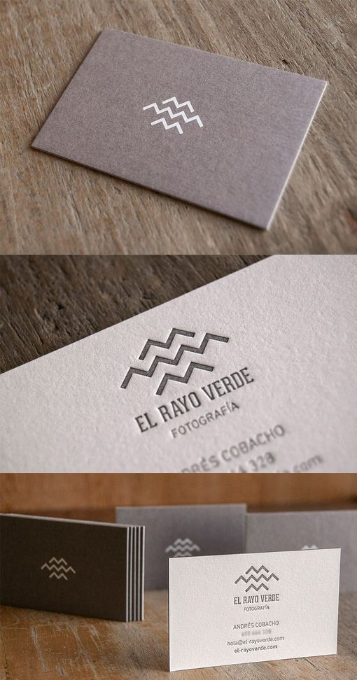 Earthy Understated Letterpress Business Card Design Shows Off A Distinctive Logo