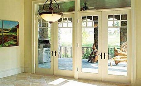 16 Ft Sliding Patio Doors Transom | Fiberglass French Doors U2013 Patio Doors  With Blinds