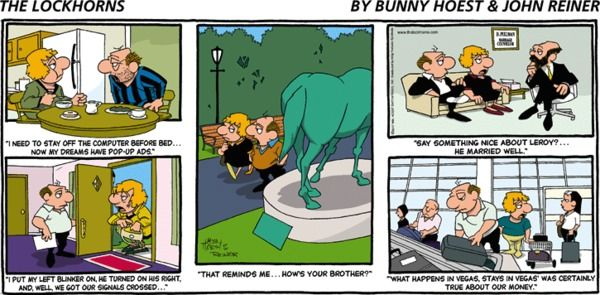 The lockhorns comic strip may comic strips