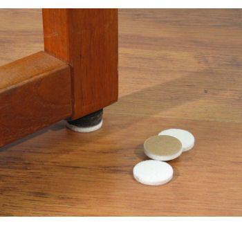 Floor Care Safeglide Felt Floor Protectors Self Adhesive Chair Glides 1 In Self Adhesive White Chair Glides Stop Bamboo Flooring White Chair Flooring