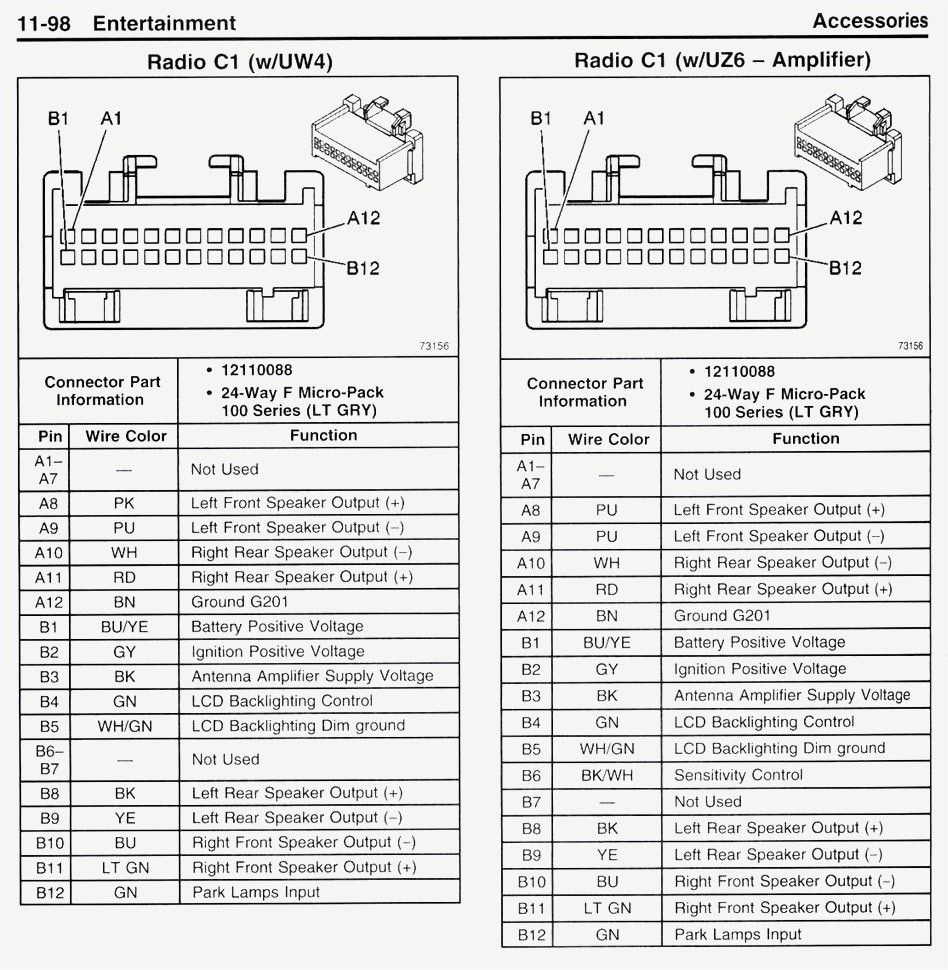 2004 Chevy Malibu Radio Wiring Diagram Image Chevy Trailblazer 2000 Chevy Silverado Chevy Silverado