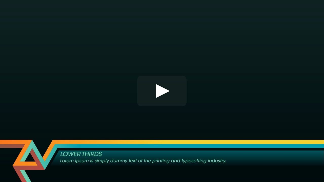 Cool Thirds in Lower Thirds on Vimeo | Overlays Inspiration ...