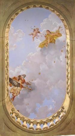 Pascal Ceiling Mural Trompe L Oeil Arabesques In 2019