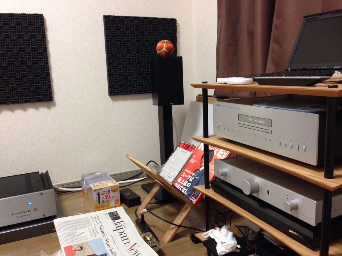 My audio room Firstwatt J2 Octave Hp300se Yamaha CDS2100