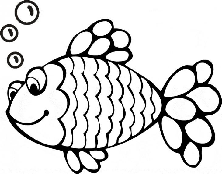 Happy Rainbow Fish Coloring Page Free To Print Painting Sea - best of coloring pages of rainbows to print