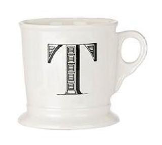 Initial coffee mug