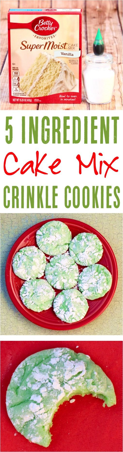 Green Crinkle Cookie Recipe! {St Patrick's Day Cookies}