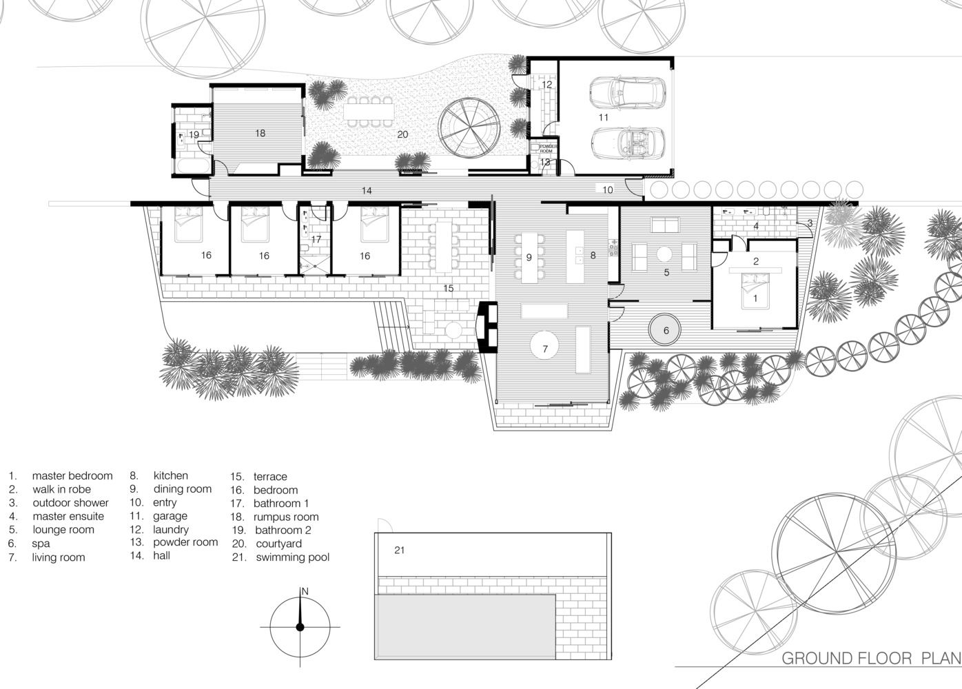 Cedar Lane House Ground Floor Plan Floor Plans House Plans One Story Ground Floor Plan