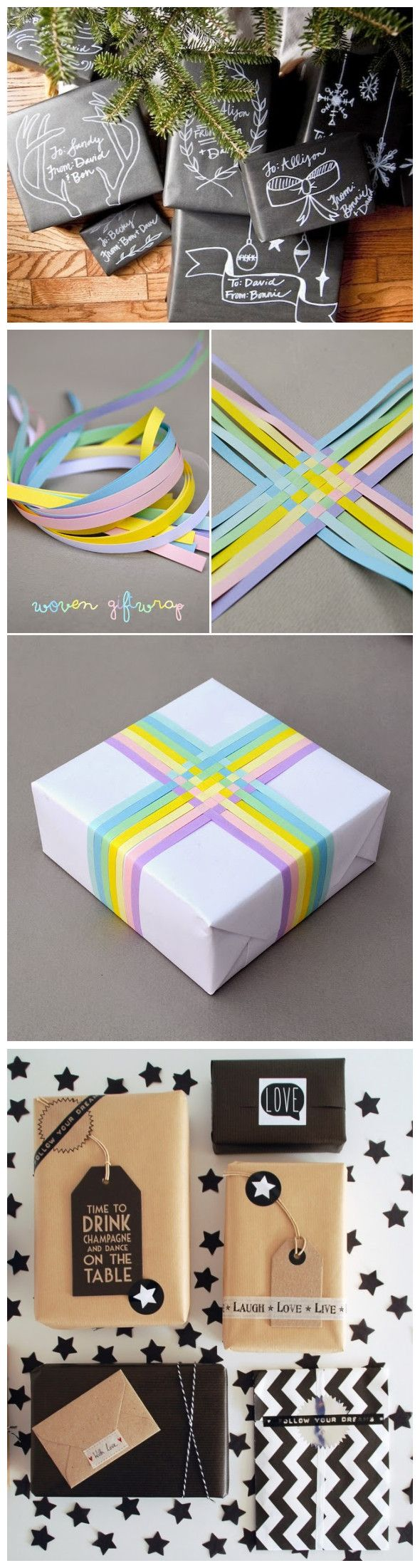 3 Last Minute Gift Wrap DIYS | Gift wrapping, Wraps and Gift wrap
