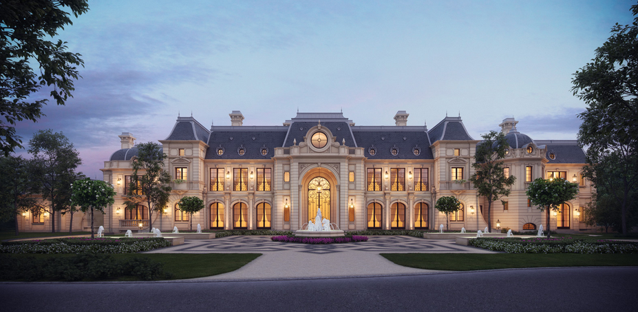Stunning french chateau design from cg rendering homes for French style homes for sale