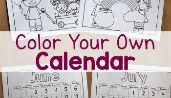 Color Your Own Calendar!